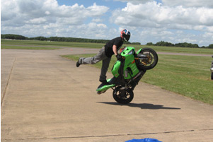 Stunt Rider entertaining the 'crowds'