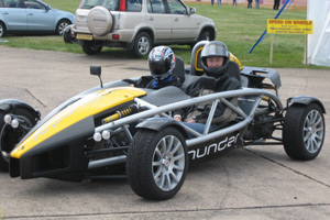 Nick about to go round the track in an Atom