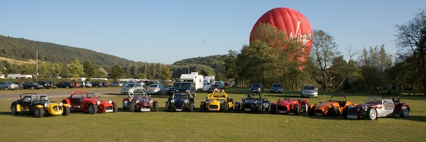 All of the cars who made it to Bakewell