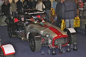 Paul Dudley's R6 race car with less than 10% of his trophies!