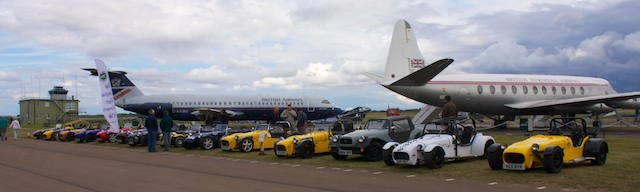 Line up of all the cars
