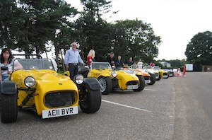 Cars with owners at Wensum Valley
