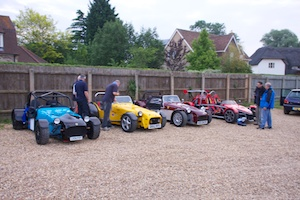 Cars Lined up at the pub