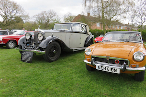 Rolls Royce and MGB