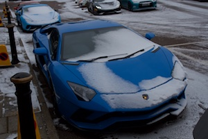 Snow Covered Lamborghini
