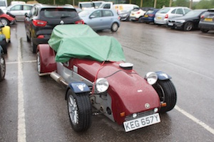 How to keep a kit car dry - tarpaulin
