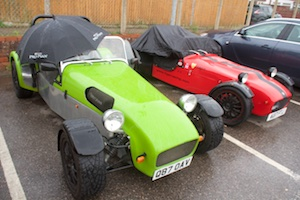 How to keep a kit car dry - umbrella