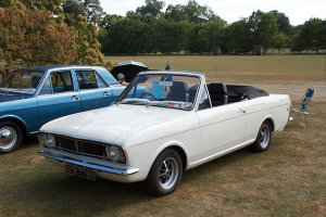 Ford Mk2 Cortina convertible (Crayford?)
