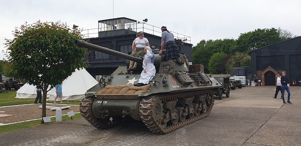 People on a Tank