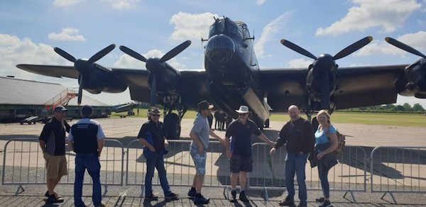 Lancaster with some EAKCC members blocking the view....
