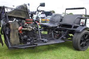 Bizarre Ford Pinto powered trike